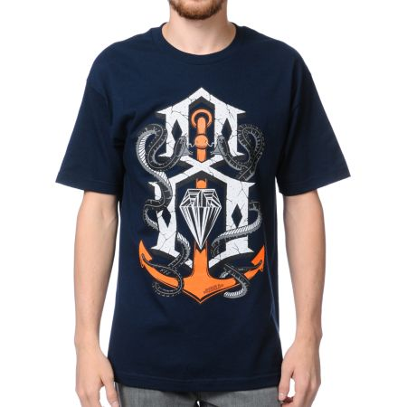 REBEL8 Capsized Blue Tee Shirt