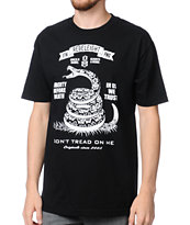 REBEL8 Dont Tread On Me Black Tee Shirt