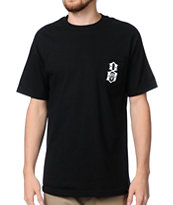 REBEL8 Logo Pocket Black Tee Shirt