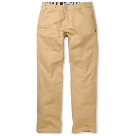 Trukfit Solid Khaki Regular Fit Chino Pants