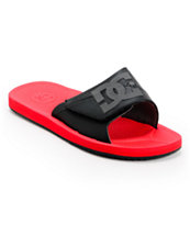 DC Graffik SN Slide Black, Red, & Battleship Sandal