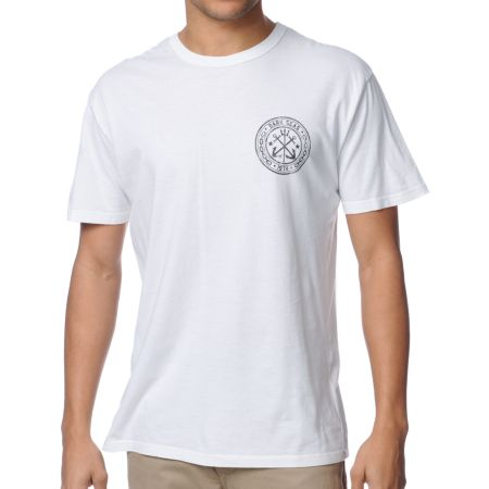 Dark Seas Academy White Tee Shirt