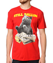 A-Lab Ballin Cat Red Tee Shirt