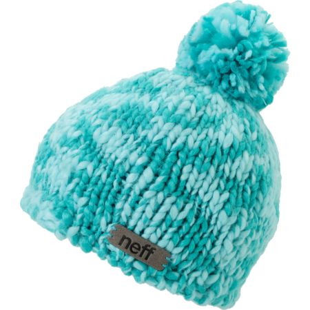 Neff Girls June Ceramic Teal Pom Beanie
