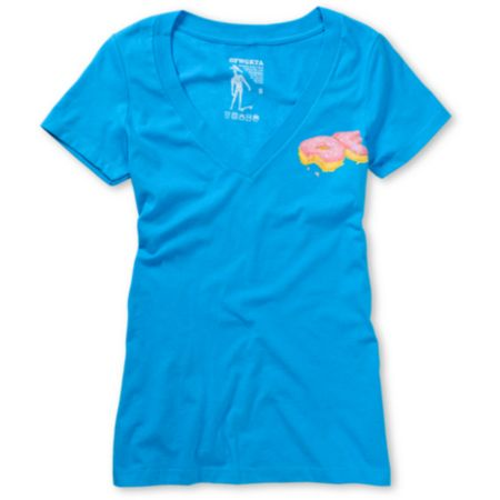 Odd Future Girls OF Tape Volume 2 Teal V-Neck Tee Shirt