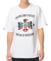 Crooks and Castles Mayan White Black Tee Shirt