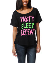 Element x Jac Vanek Party Sleep Repeat Tee Shirt