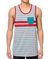 Empyre Life Guard Grey & Teal Tank Top