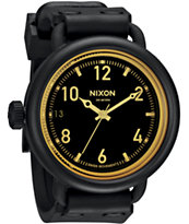 Nixon October Matte Black & Orange Tint Watch