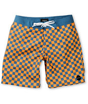 Brixton Generator Blue & Orange Checkered 19 Board Shorts