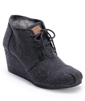 Toms Grey Wool Desert Wedge