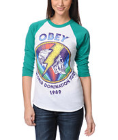 Obey World Domination Tour Baseball Tee Shirt