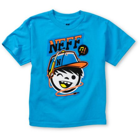 Neff Boys Cordy Blue Tee Shirt