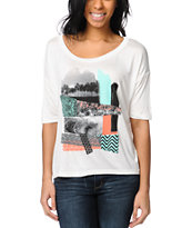 Lira Sunset Natural Scoop Neck Tee Shirt