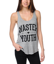 Lira Wasted Heather Grey Racerback Tank Top