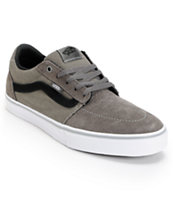 Vans Lindero Dark Grey & Black Suede Skate Shoe