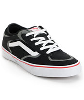 Vans Rowley Pro Black, Red, & White Skate Shoe