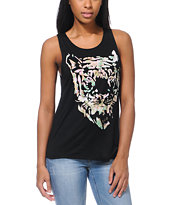 Lira Tiger Black Muscle Tank Top