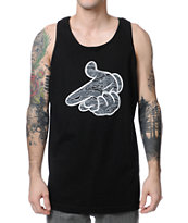 Crooks and Castles Tiger Camo Air Gun Black Tank Top