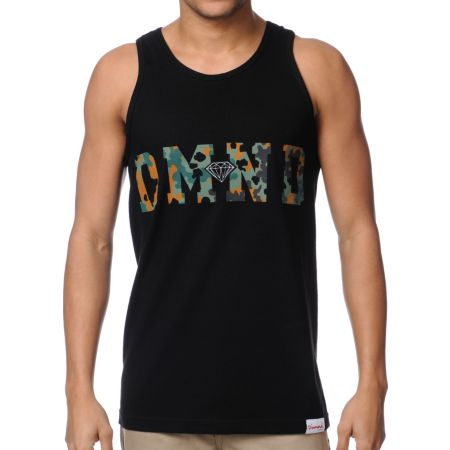 Diamond Supply Diamond Camo Black Tank Top