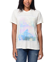 Obey Girls New Life After Hours Natural Tee Shirt