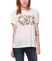 Obey Girls Bone Garden After Hours Natural Tee Shirt