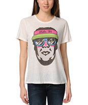 Obey Girls Aloha 89 White Tee Shirt