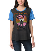 Obey Girls Jealous Again Grey Tee Shirt