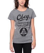 Obey Nuclear Attack Grey Tri-Blend Tee Shirt