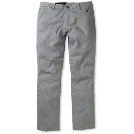 Volcom Murphy Grey Regular Fit Chino Pants