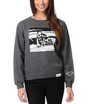Diamond Supply Brilliant Glass Charocal Crew Neck Sweatshirt