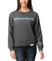 Diamond Supply Hashtag Charocal Crew Neck Sweatshirt