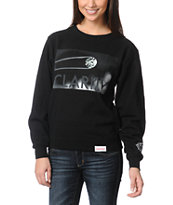 Diamond Supply Girls Clarity Black Crew Neck Sweatshirt