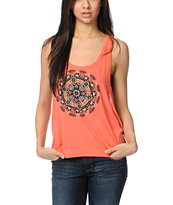 Element Medallion Coral Racerback Tank Top