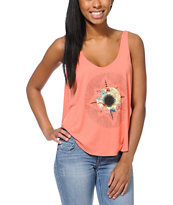 RVCA Girls Apollo ANP Coral Tank Top