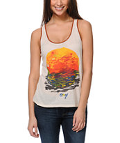 Obey Rising Red Sun Natural White Rookie Tank Top