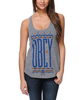 Obey Colours Heather Grey Racerback Tank Top