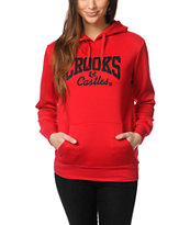 Crooks and Castles Girls Core Logo Red Pullover Hoodie