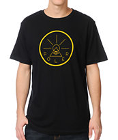Poler Golden Circle Black & Gold Tee Shirt