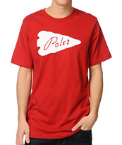Poler Arrowhead Red Tee Shirt