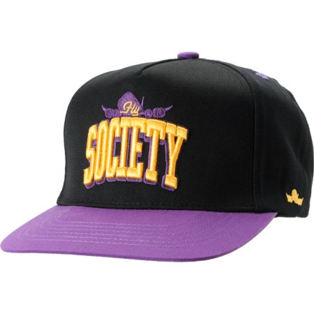 Fly Society Arch Black Snapback Hat