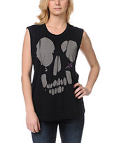 Young & Reckless Headcase Black Muscle Tank Top