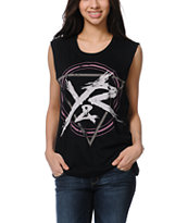 Young & Reckless Power Circle Black Muscle Tank Top