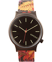 Komono Autumn Leaf Wizard Print Watch