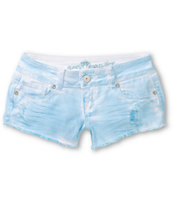 Almost Famous Scarlet Blue Tie Dye Cut Off Shorts