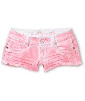 Almost Famous Scarlet Blush Pink Tie Dye Cut Off Shorts