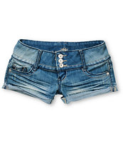 Almost Famous Heidi Medium Blue Cut Off Shorts
