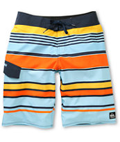Quiksilver You Know This Boardy Smith Blue Stripe Board Shorts