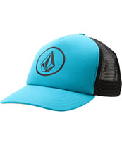 Volcom Girls Circle Stone Teal Trucker Hat