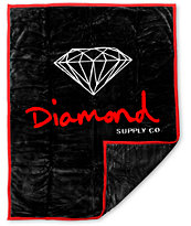 Diamond Supply OG Black & Red Blanket